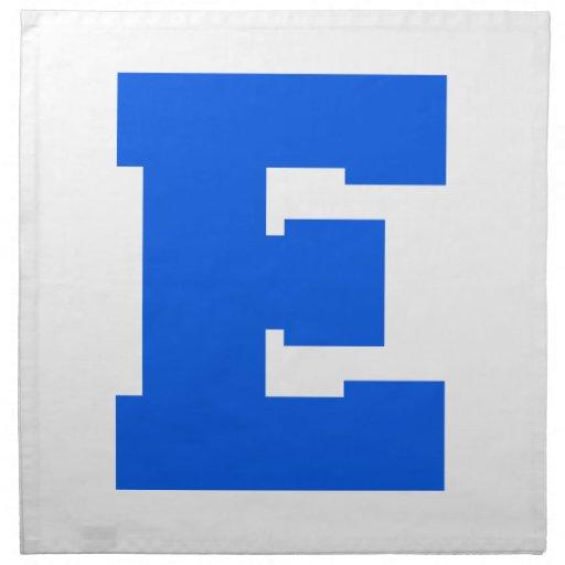 Letter Pride E Blue.png Napkins