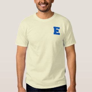Letter Pride E Blue.png Tshirts