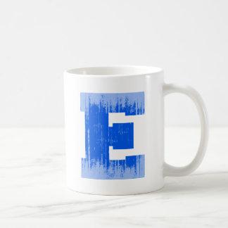 LETTER PRIDE E BLUE VINTAGE.png Basic White Mug