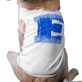 LETTER PRIDE E BLUE VINTAGE png Dog T-shirt