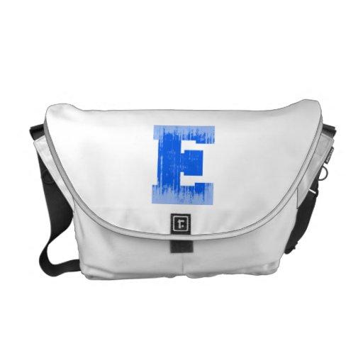 LETTER PRIDE E BLUE VINTAGE.png Commuter Bags