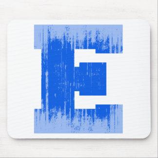 LETTER PRIDE E BLUE VINTAGE png Mousepads