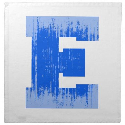 LETTER PRIDE E BLUE VINTAGE.png Cloth Napkin