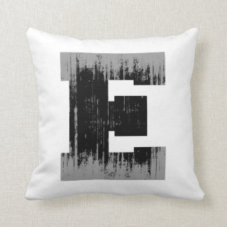 LETTER PRIDE E VINTAGE.png Throw Pillows