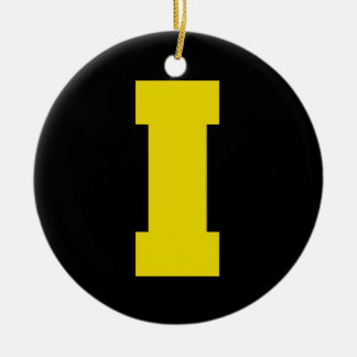 Letter Pride I Yellow.png Christmas Ornament