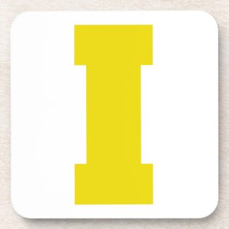Letter Pride I Yellow png Drink Coaster