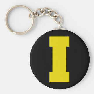 Letter Pride I Yellow.png Key Chains
