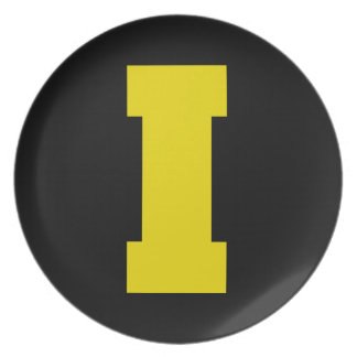 Letter Pride I Yellow.png Dinner Plates