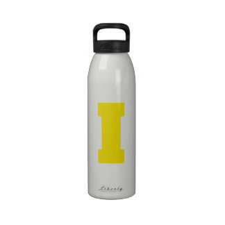 Letter Pride I Yellow png Water Bottles