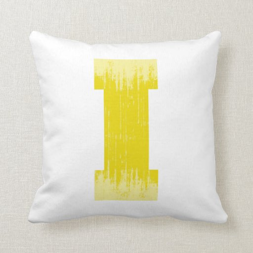 LETTER PRIDE I YELLOW VINTAGE.png Throw Pillow