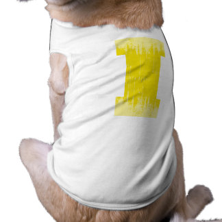 LETTER PRIDE I YELLOW VINTAGE png Pet Tshirt