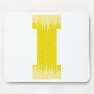 LETTER PRIDE I YELLOW VINTAGE png Mouse Pad