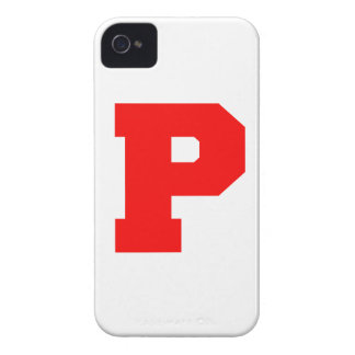 Letter Pride P Red.png Case-Mate iPhone 4 Case