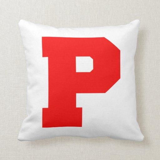 Letter Pride P Red.png Throw Pillow