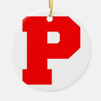 Letter Pride P Red.png Christmas Tree Ornament