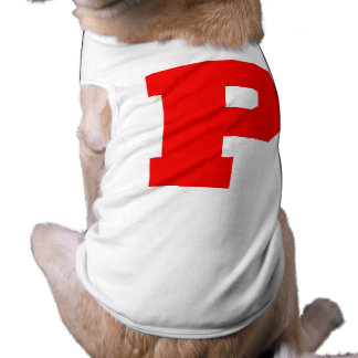 Letter Pride P Red png Dog Tshirt