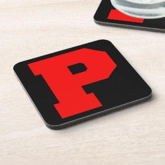 Letter Pride P Red png Drink Coaster