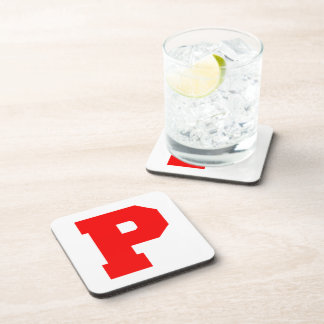 Letter Pride P Red.png Drink Coasters