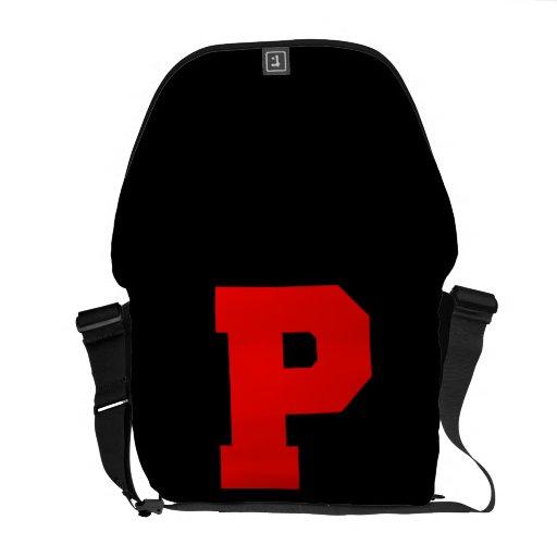 Letter Pride P Red.png Messenger Bag