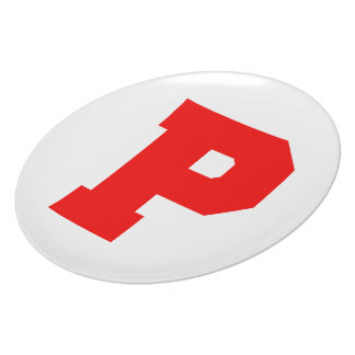 Letter Pride P Red.png Party Plate