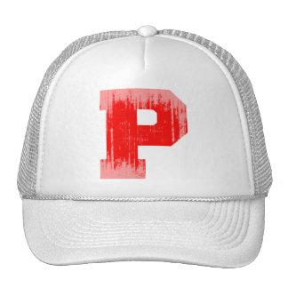 LETTER PRIDE P RED VINTAGE.png Hats