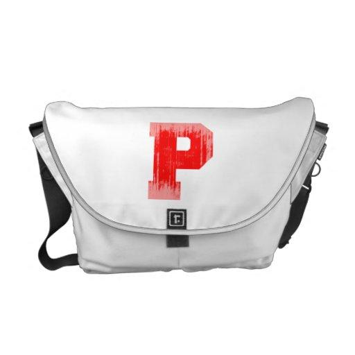 LETTER PRIDE P RED VINTAGE.png Messenger Bags