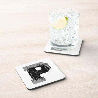 LETTER PRIDE P VINTAGE.png Beverage Coasters