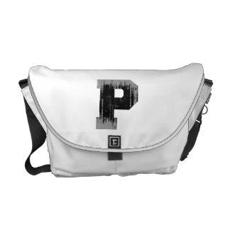LETTER PRIDE P VINTAGE.png Courier Bag