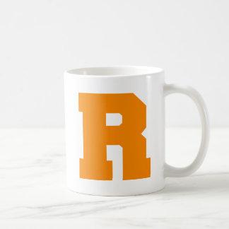 Letter Pride R Orange.png Basic White Mug