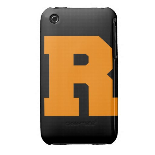 Letter Pride R Orange.png iPhone 3 Covers