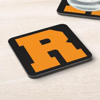 Letter Pride R Orange png Coaster