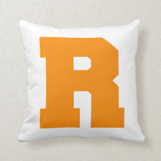 Letter Pride R Orange.png Throw Pillows