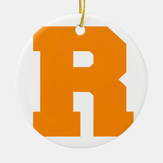 Letter Pride R Orange.png Christmas Tree Ornament