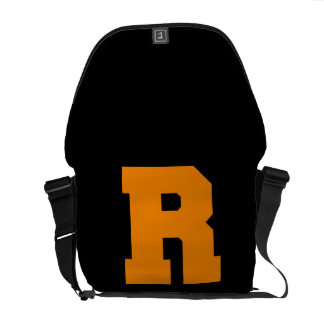 Letter Pride R Orange.png Courier Bag
