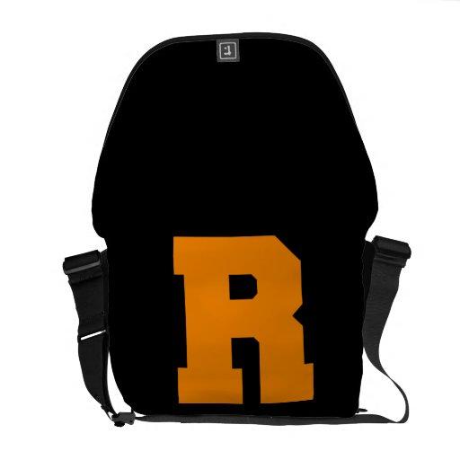 Letter Pride R Orange.png Courier Bag