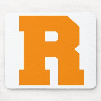 Letter Pride R Orange png Mouse Pad