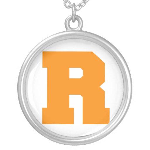 Letter Pride R Orange.png Pendants