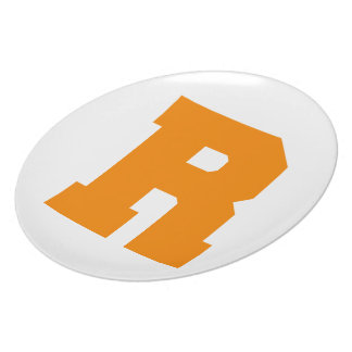 Letter Pride R Orange.png Dinner Plates