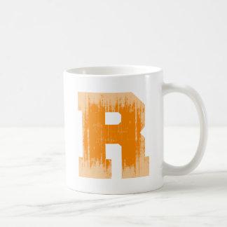LETTER PRIDE R ORANGE VINTAGE.png Basic White Mug