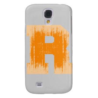 LETTER PRIDE R ORANGE VINTAGE png Galaxy S4 Cases