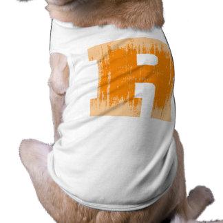 LETTER PRIDE R ORANGE VINTAGE png Pet Shirt