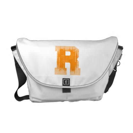LETTER PRIDE R ORANGE VINTAGE.png Messenger Bag