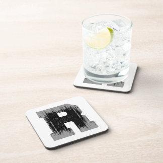 LETTER PRIDE R VINTAGE.png Drink Coaster