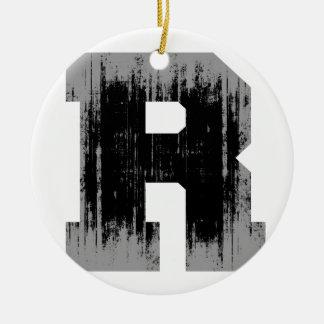 LETTER PRIDE R VINTAGE.png Christmas Tree Ornament