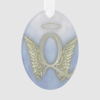 Letter Q Angel Monogram Ornament