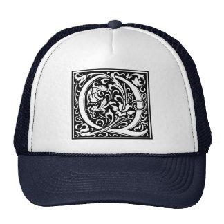 Letter Q Medieval Monogram Vintage Initial Trucker Hat