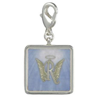 Letter R Angel Monogram Charm