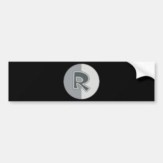 Letter R Bumper Sticker