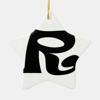 Letter R_large Christmas Ornament