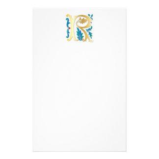 Letter R Monogram Fleur de lis Stationery